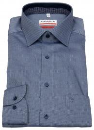 Hemd - Modern Fit - Patch - Print - dunkelblau / hellblau