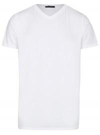 T-Shirt - V-Ausschnitt - weiß