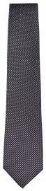 Seidenkrawatte - feines Muster - schwarz / grau