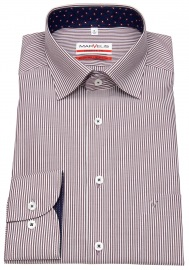 Hemd - Modern Fit - Under Button Down - rot / weiß