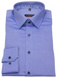 Hemd - Modern Fit - Natté - Patch - blau