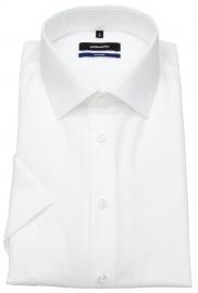 Kurzarmhemd - Shaped Fit - Kentkragen - weiß