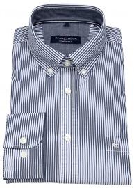 Hemd - Comfort Fit - Button Down Kragen - blau / weiß