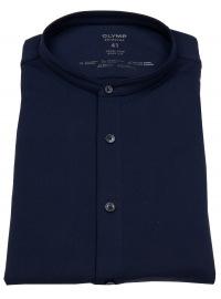 OLYMP Hemd - Level 5 Body Fit - 24 / Seven Shirt - Stehkragen - blau