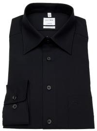 Hemd - Tendenz Modern Fit - Kentkragen - schwarz
