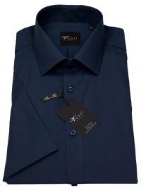 Kurzarmhemd - Slim Fit - dunkelblau
