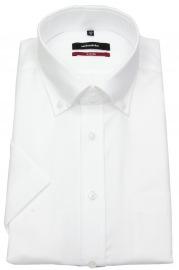 Halbarmhemd - Regular Fit - Button Down Kragen - weiß