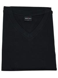 T-Shirt Doppelpack - Modern Fit - V-Ausschnitt - schwarz