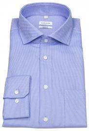 Hemd - Regular Fit - Struktur - blau