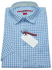 Kurzarmhemd - Regular Cut - blau / weiß kariert - ohne OVP