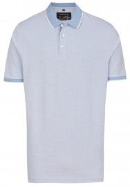 Poloshirt - Piqué - hellblau