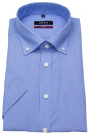 Halbarmhemd - Modern Fit - Button Down Kragen - blau