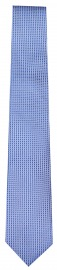 Seidenkrawatte - Slim - Struktur- hellblau / weiß
