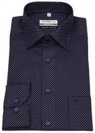 Hemd - Comfort Fit - Print - dunkelblau / weiß / rot