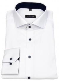 Hemd - Comfort Fit - Haikragen - extra blickdicht - weiß