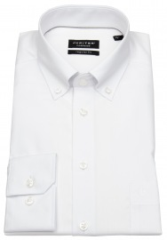 Hemd - Regular Fit - Fil-à-Fil - Button Down - weiß