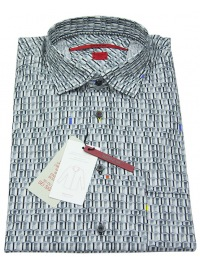 Hemd - Regular Cut - grau gemustert - ohne OVP