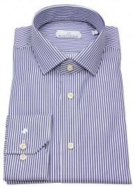 Hemd - Modern Fit - Haikragen - Streifen - blau / weiß