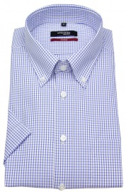 Halbarmhemd - Modern Fit - Button-Down Kragen - Gitterkaro