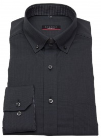 Hemd - Modern Fit - Button Down - Fil à Fil - schwarz