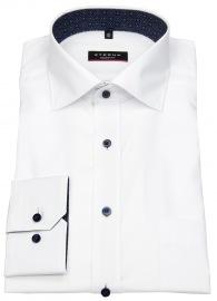 Hemd - Modern Fit - Kontrastknöpfe - weiß