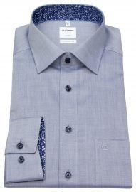 Hemd - Luxor Comfort Fit - Patch - Kontrastknöpfe - blau