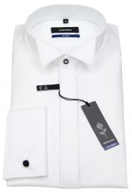 Galahemd - Tailored Fit - Kläppchenkragen - weiß