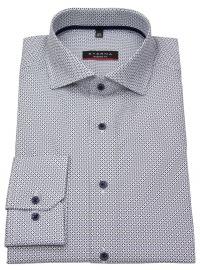 Hemd - Modern Fit - Haikragen - Print - blau / beige / weiß