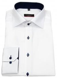 Hemd - Modern Fit - Kontrastknöpfe - weiß - 68cm Arm