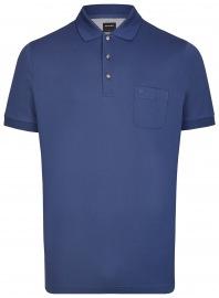 Poloshirt - Modern Fit- Piqué - indigo