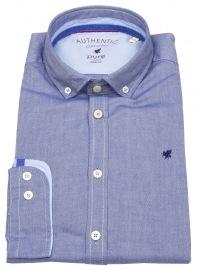 Hemd - Slim Fit - Button Down - Oxford - blau