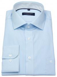 Hemd - Comfort Fit - Streifen - türkis / weiß