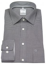 Hemd - Luxor Comfort Fit - Check - schwarz / weiß
