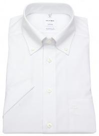 Kurzarm Hemd - Tendenz Modern Fit - Button Down - weiß