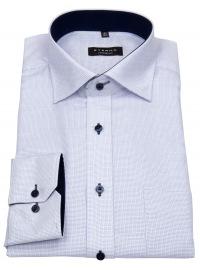 Eterna Hemd - Comfort Fit - sehr fein kariert - hellblau / weiß