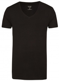 Level Five Body Fit - T-Shirt - V-Ausschnitt - schwarz