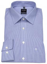 Hemd - Luxor Modern Fit - weiß / blau fein gestreift