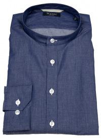 Hemd - Regular Fit - Stehkragen - blau