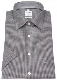 Kurzarmhemd - Luxor Comfort Fit - Check - schwarz / weiß