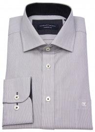 Hemd - Comfort Fit - Streifen - schwarz / weiß