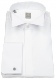 Smokinghemd - Custom Fit - Kläppchenkragen - UMA - weiß