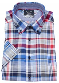 Kurzarmhemd - Comfort Fit - Button Down Kragen - kariert