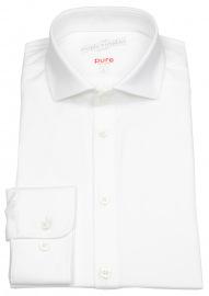 Pure Hemd - Slim Fit - Functional Shirt - Haifischkragen - weiß