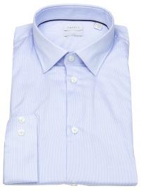 Hemd - Slim Fit - Kentkragen - Streifen - hellblau / weiß