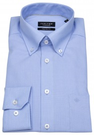 Hemd - Regular Fit - Fil-à-Fil - Button Down - hellblau