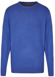 Pullover - Rundhals Ausschnitt - blau