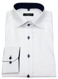 Hemd - Comfort Fit - Oxford - Kontrastknöpfe - weiß