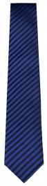 Seidenkrawatte - blau / schwarz gestreift