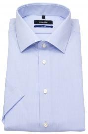 Kurzarmhemd - Tailored Fit - Kentkragen - hellblau