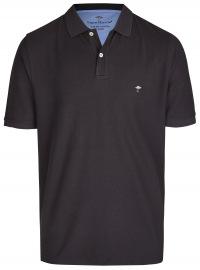 Fynch-Hatton Poloshirt - Casual Fit - Piqué - schwarz